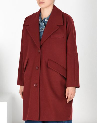 MM6 MAISON MARGIELA Coat D Felt wool blend cocoon coat f
