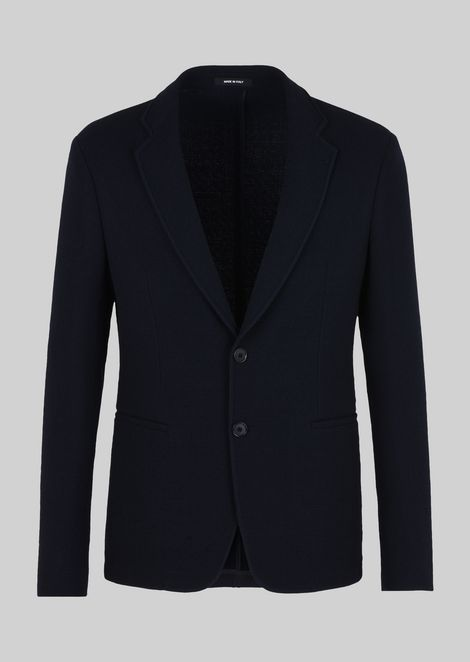 SINGLE-BREASTED SOFT WOOL JACKET