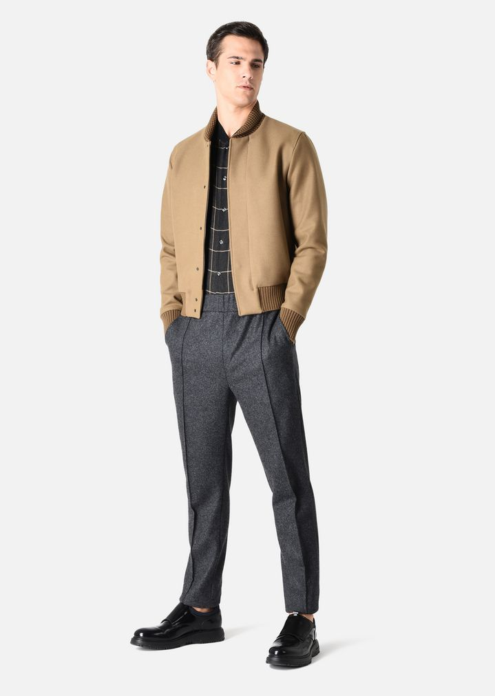 142f781a8ee8 BOMBER JACKET IN SOLID BROADCLOTH