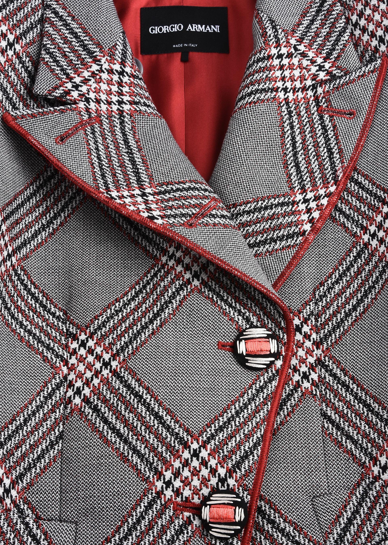 GIORGIO ARMANI SINGLE-BREASTED WOOL JACQUARD JACKET Fashion Jacket D a