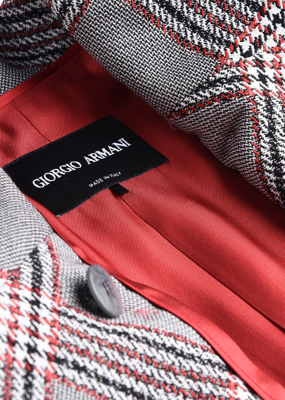 GIORGIO ARMANI SINGLE-BREASTED WOOL JACQUARD JACKET Fashion Jacket D b