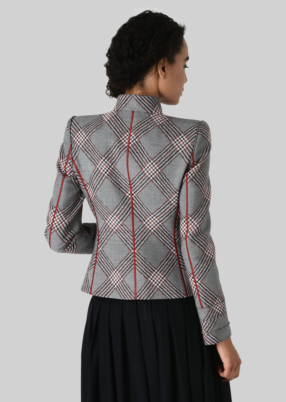 GIORGIO ARMANI SINGLE-BREASTED WOOL JACQUARD JACKET Fashion Jacket D d