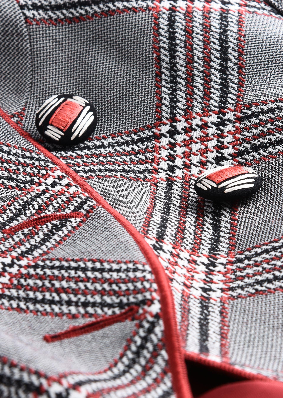 GIORGIO ARMANI SINGLE-BREASTED WOOL JACQUARD JACKET Fashion Jacket D e