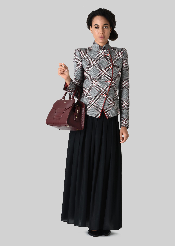 GIORGIO ARMANI SINGLE-BREASTED WOOL JACQUARD JACKET Fashion Jacket D f
