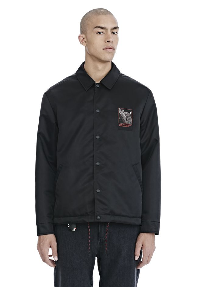 ALEXANDER WANG JACKETS AND OUTERWEAR  Men SLOW AND STEADY PATCH COACH'S JACKET