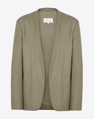 MAISON MARGIELA Jacket U Collarless cotton blend jacket f