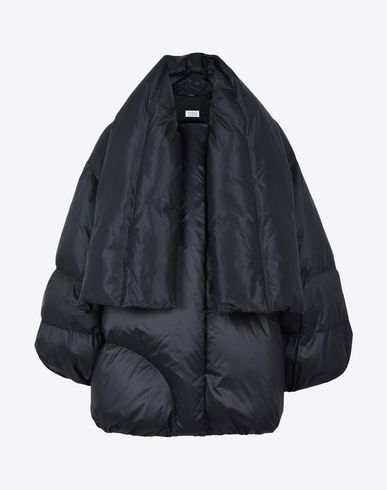 MAISON MARGIELA Cropped-sleeve puffer coat Jacket D f