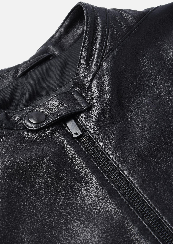Leather jacket armani