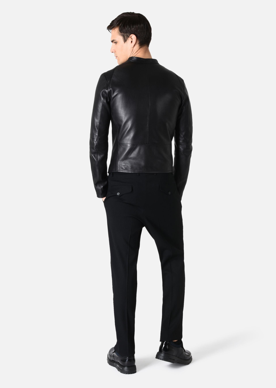 Armani men's brown leather jacket