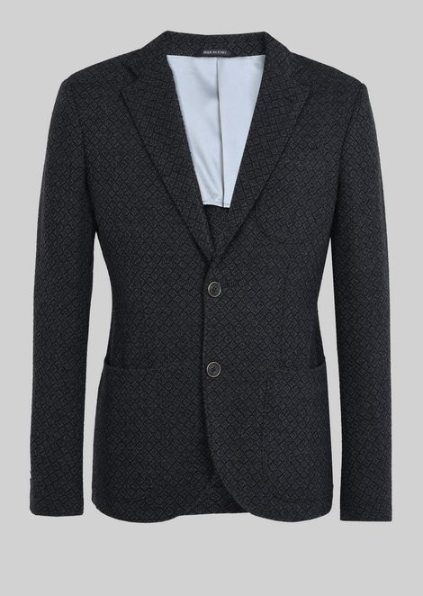 SINGLE-BREASTED JACKET FROM THE TOKYO LINE IN BOUCLÉ TWILL