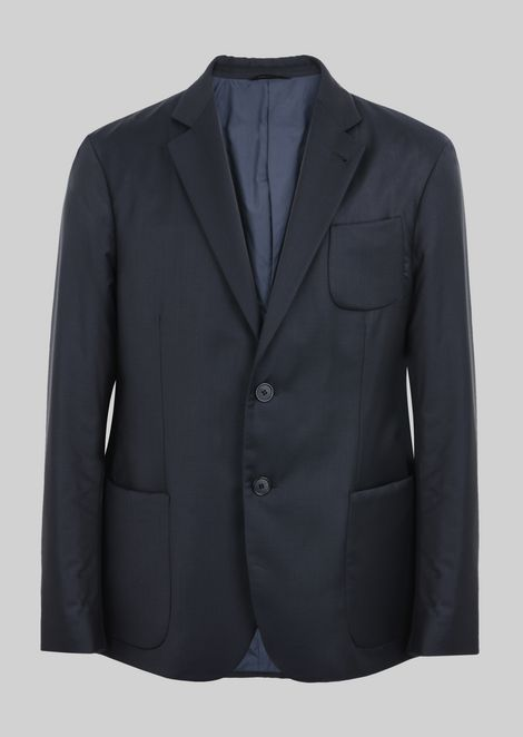 SINGLE-BREASTED JACKET FROM THE UPTON LINE IN WOOL AND CASHMERE