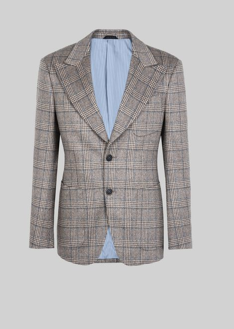 SINGLE-BREASTED JACKET IN CASHMERE DRAP FROM THE NUOVA LINE