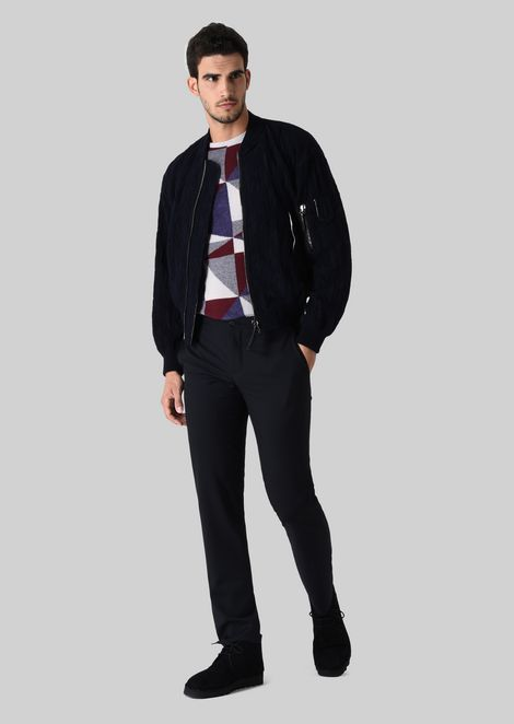 BOMBER JACKET IN STRETCH WOOL