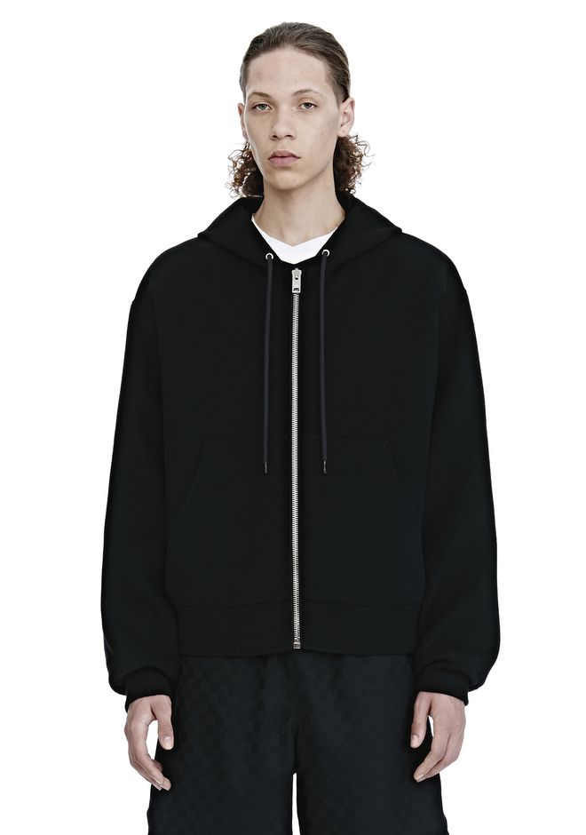 ALEXANDER WANG nwvmens-apparel SPLITTABLE BRUSHED WOOL HOODIE