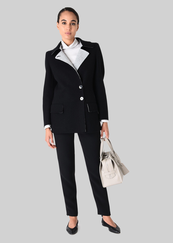 GIORGIO ARMANI SINGLE-BREASTED PEA COAT IN CASHMERE Casual Jacket D f