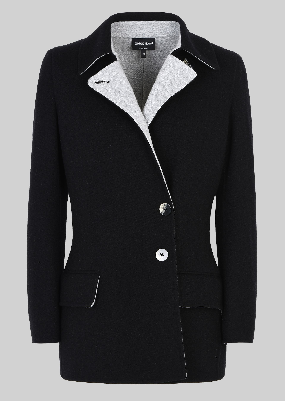 GIORGIO ARMANI SINGLE-BREASTED PEA COAT IN CASHMERE Casual Jacket D r