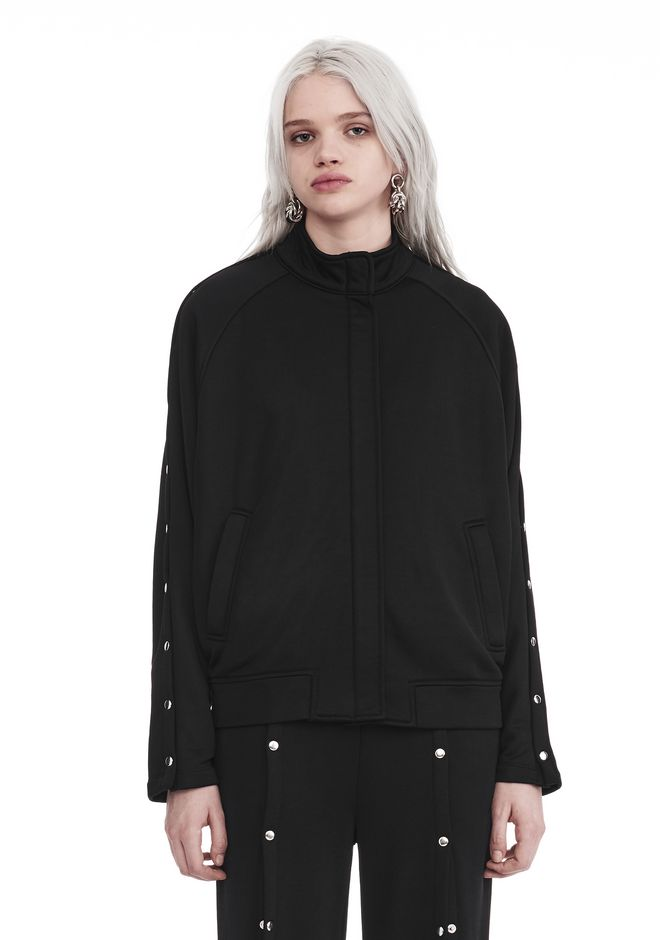 T by ALEXANDER WANG JACKETS AND OUTERWEAR  Women TRACK JACKET WTIH SNAPS