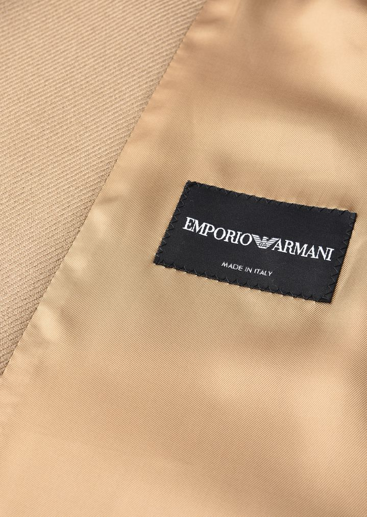 EMPORIO ARMANI COAT IN VIRGIN WOOL DOUBLE COLLAR Classic Coat Man b