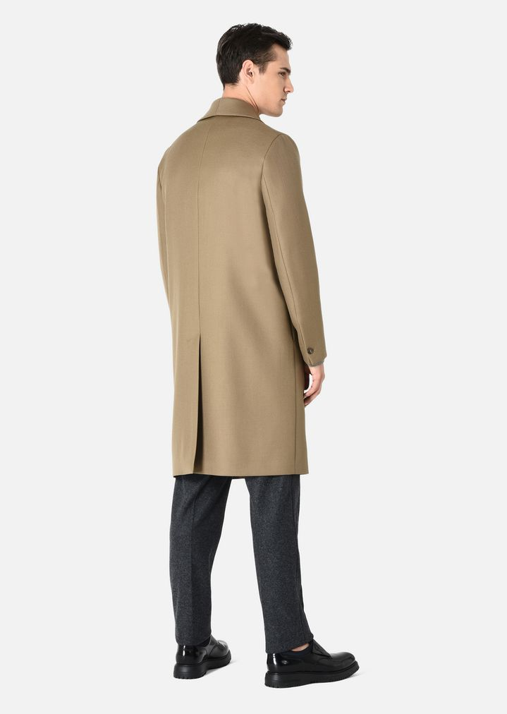 EMPORIO ARMANI COAT IN VIRGIN WOOL DOUBLE COLLAR Classic Coat Man d