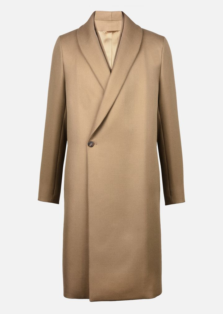 EMPORIO ARMANI COAT IN VIRGIN WOOL DOUBLE COLLAR Classic Coat Man r