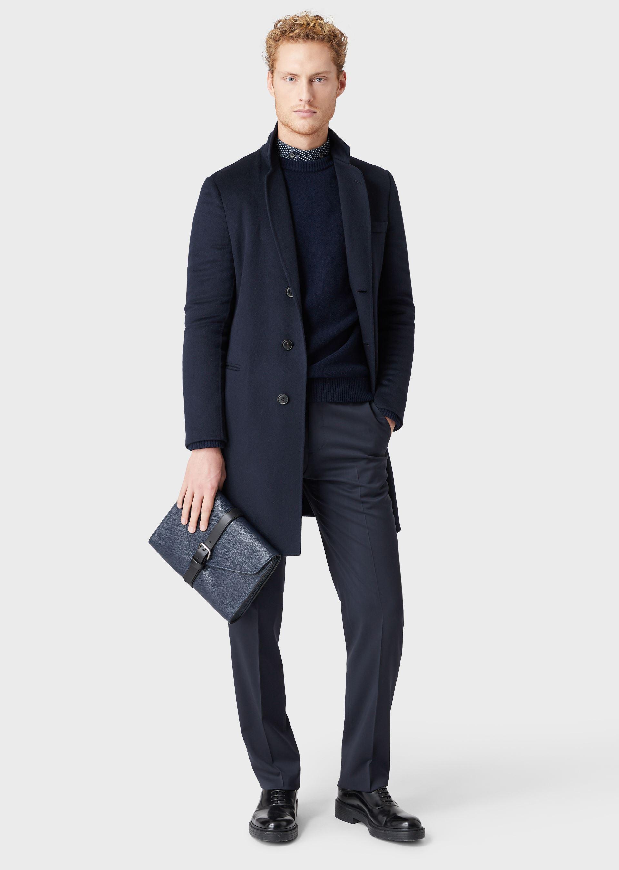 GIORGIO ARMANI DOUBLE CASHMERE COAT Classic Coat U e