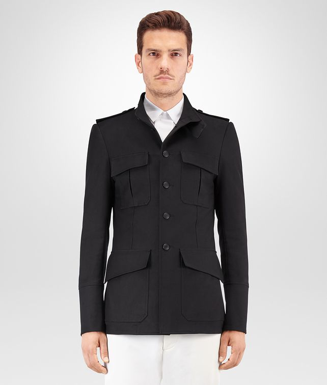 BOTTEGA VENETA NERO GABARDINE COTTON JACKET Outerwear and Jacket Man fp