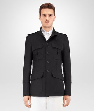 NERO GABARDINE COTTON JACKET