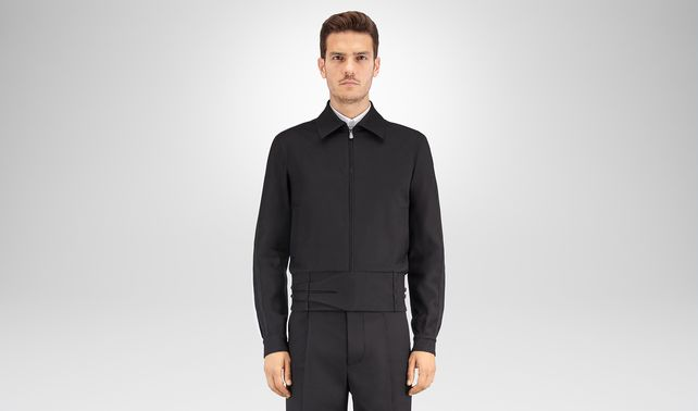 NERO GABARDINE COTTON BLOUSON