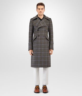 MULTICOLOUR CHECK WOOL COAT