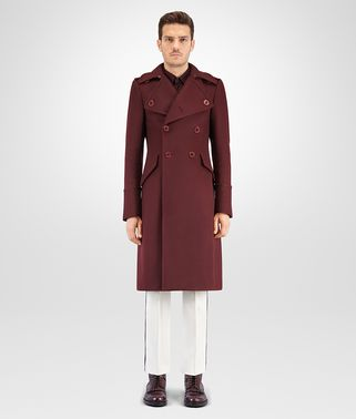 DARK BAROLO ORGANIC WOOL COAT