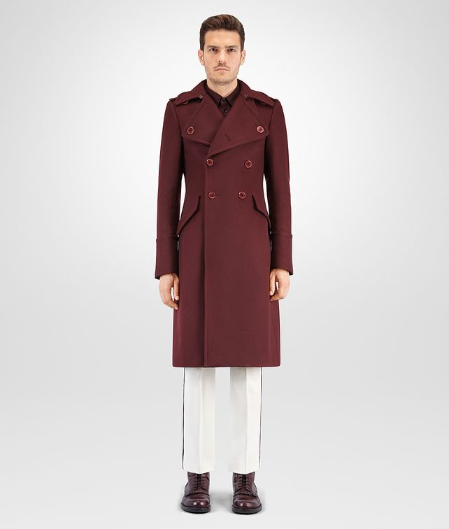 BOTTEGA VENETA DARK BAROLO ORGANIC WOOL COAT Outerwear and Jacket Man fp