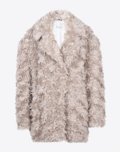 MAISON MARGIELA Mid-length jacket D Mohair car coat f