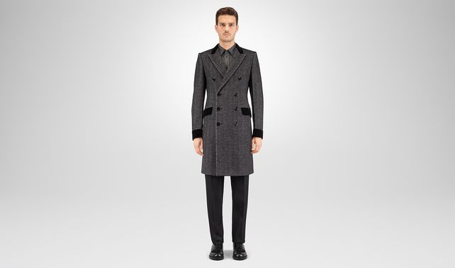 MIST HERRINGBONE WOOL COAT