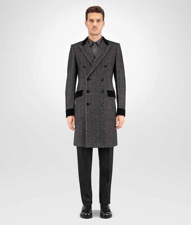 BOTTEGA VENETA MIST HERRINGBONE WOOL COAT Outerwear and Jacket Man fp