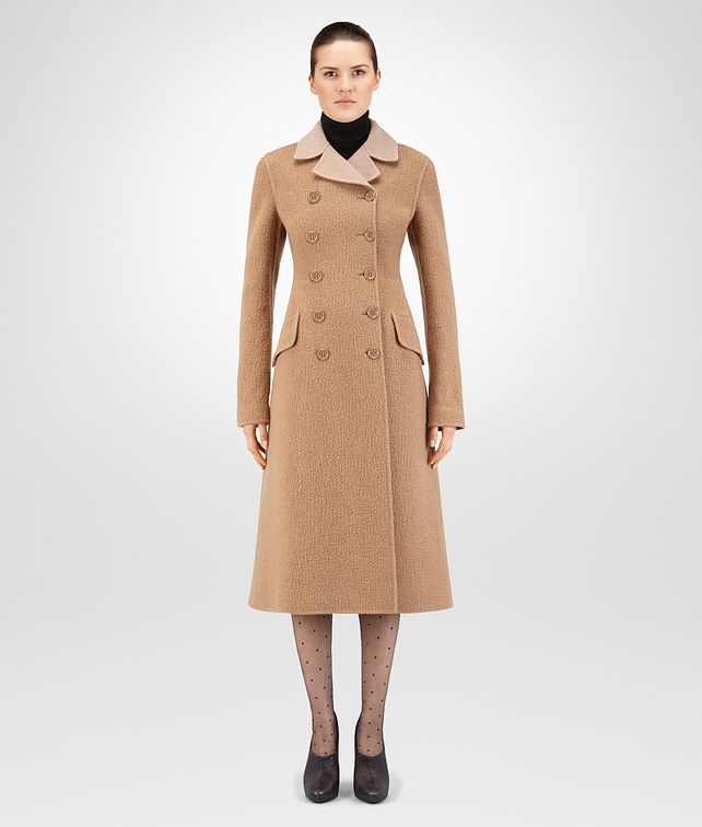BOTTEGA VENETA CAMEL WOOL COAT Outerwear and Jacket Woman fp