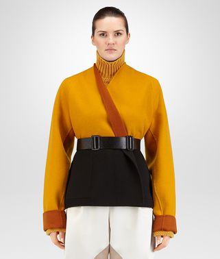 LEATHER DOUBLE CASHMERE REVERSIBLE CABAN