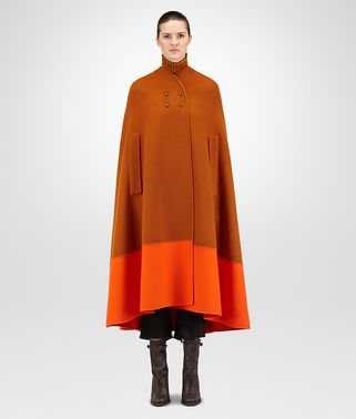 LEATHER DOUBLE CASHMERE REVERSIBLE CAPE