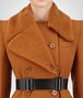 BOTTEGA VENETA DARK LEATHER WOOL COAT Outerwear and Jacket Woman ap