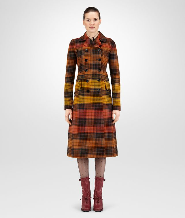 BOTTEGA VENETA MULTICOLOUR WOOL COAT Outerwear and Jacket Woman fp