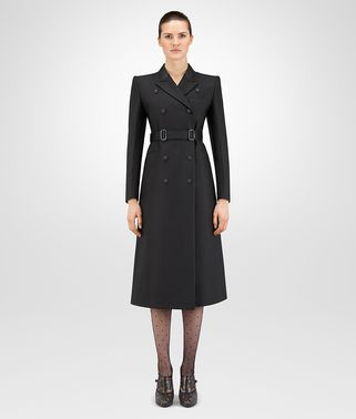 NERO SILK COTTON TWILL COAT
