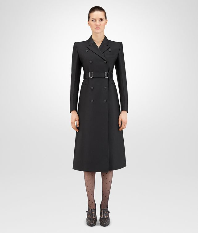 BOTTEGA VENETA NERO SILK COTTON TWILL COAT Coat or Jacket D fp