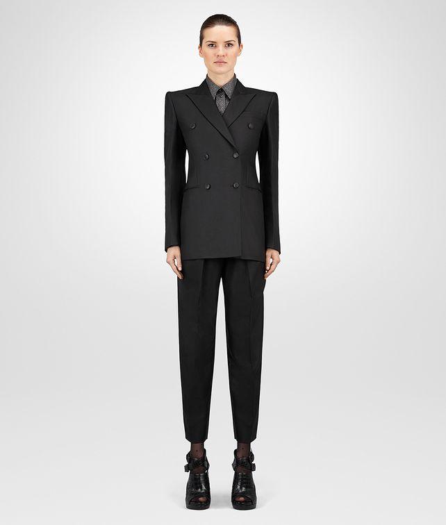 BOTTEGA VENETA GIACCA IN TWILL DI COTONE E SETA NERO Outerwear e giacca Donna fp