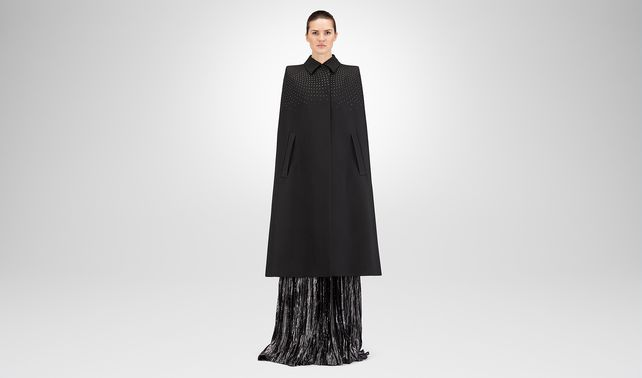 NERO SILK COTTON TWILL CAPE