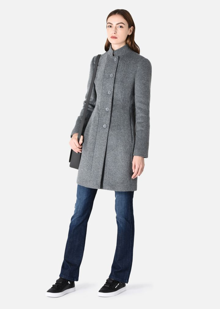 Smuk COAT IN WOOL | Woman | Emporio Armani KC-45