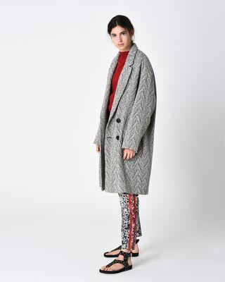 ISABEL MARANT ÉTOILE COAT D FIMO chevron coat r