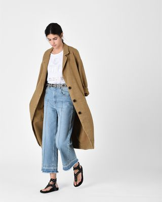 ISABEL MARANT ÉTOILE COAT Woman LAUREL trench coat r