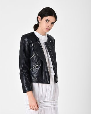 GRINLY leather biker jacket