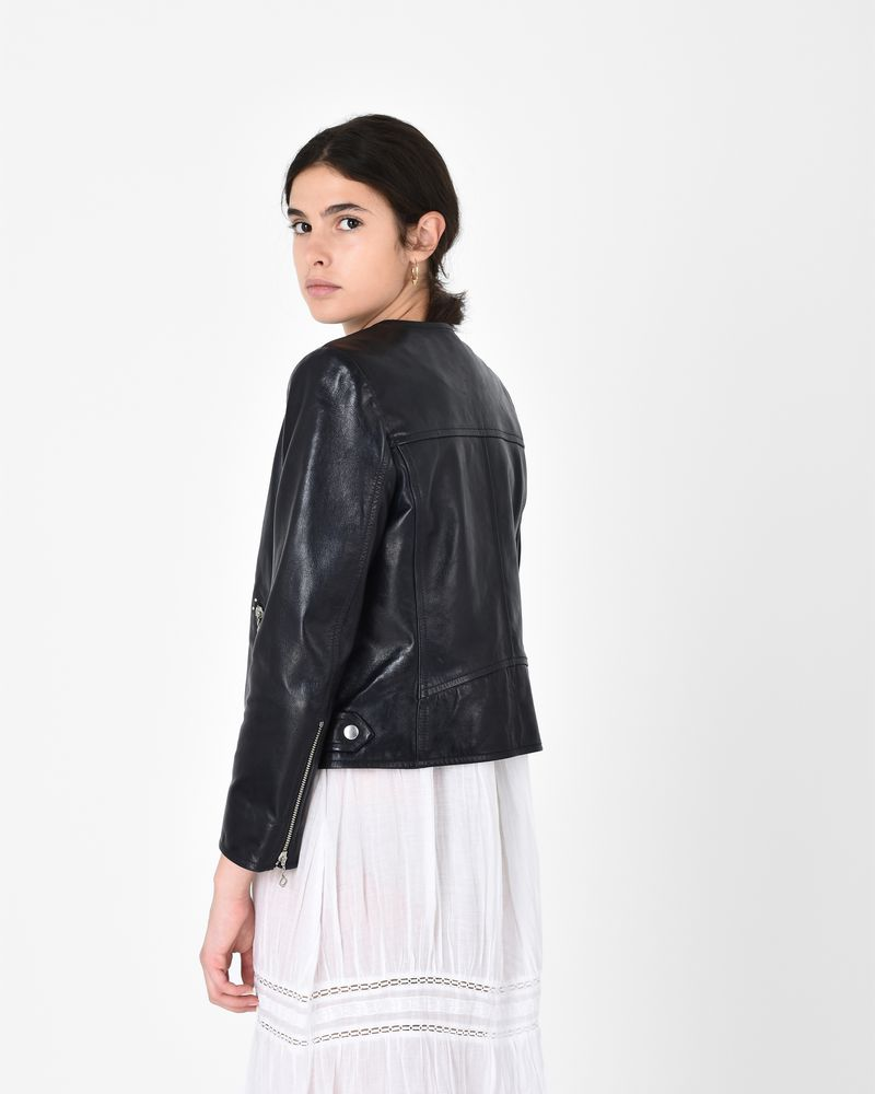 GRINLY leather biker jacket ISABEL MARANT ÉTOILE