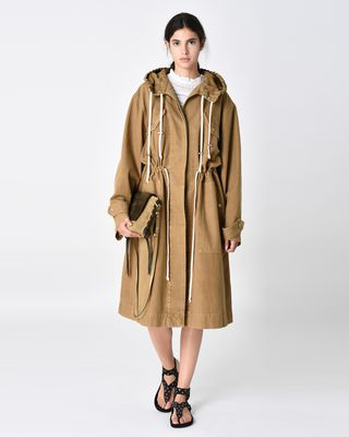 LANDER hooded trench coat