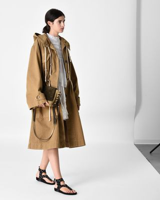 ISABEL MARANT ÉTOILE COAT D LANDER hooded trench coat r